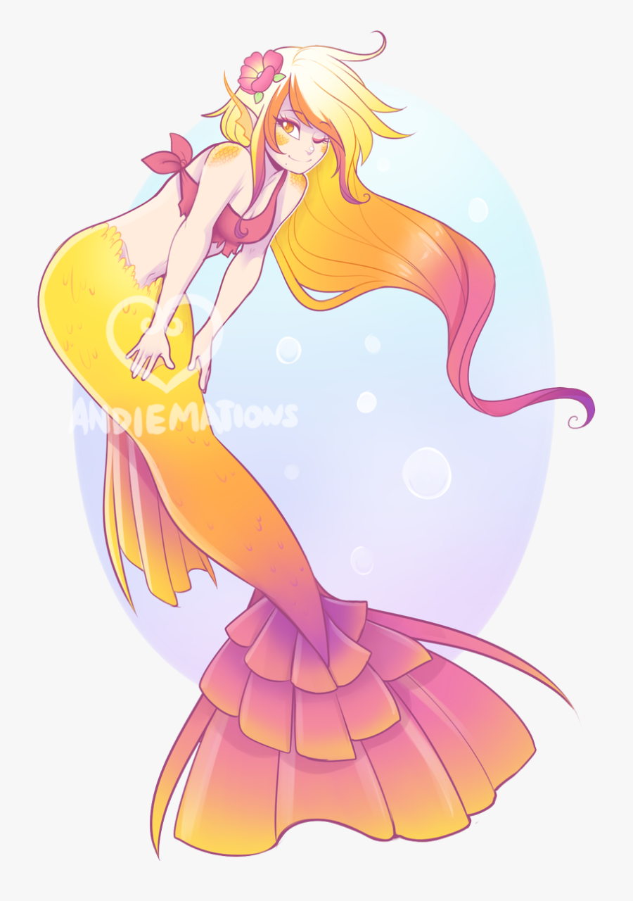 Anime Mermaid Drawings , Free Transparent Clipart - ClipartKey