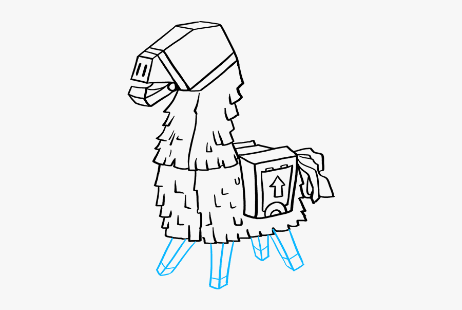 How To Draw Llama From Fortnite - Fortnite Llama How To Draw, Transparent Clipart