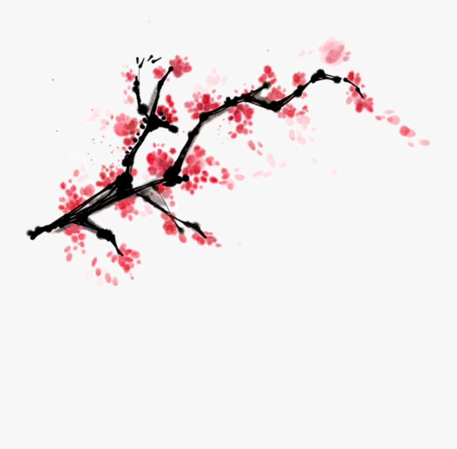 Transparent Branch Png - Cherry Blossom Branch Painting, Transparent Clipart