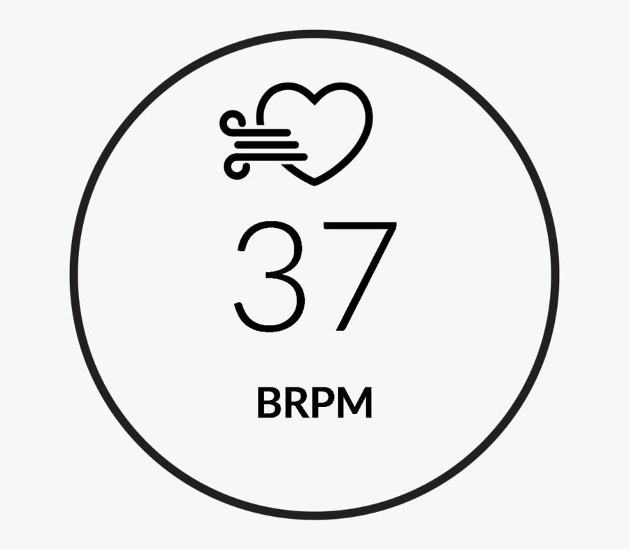 Respiration Rate - Firstbeat Feature - Circle, Transparent Clipart