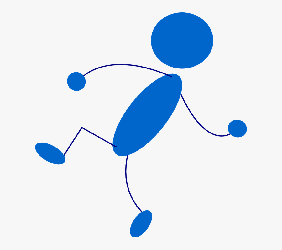 Stickman, Stick Figure, Man, Blue, People - Stick Man, Transparent Clipart