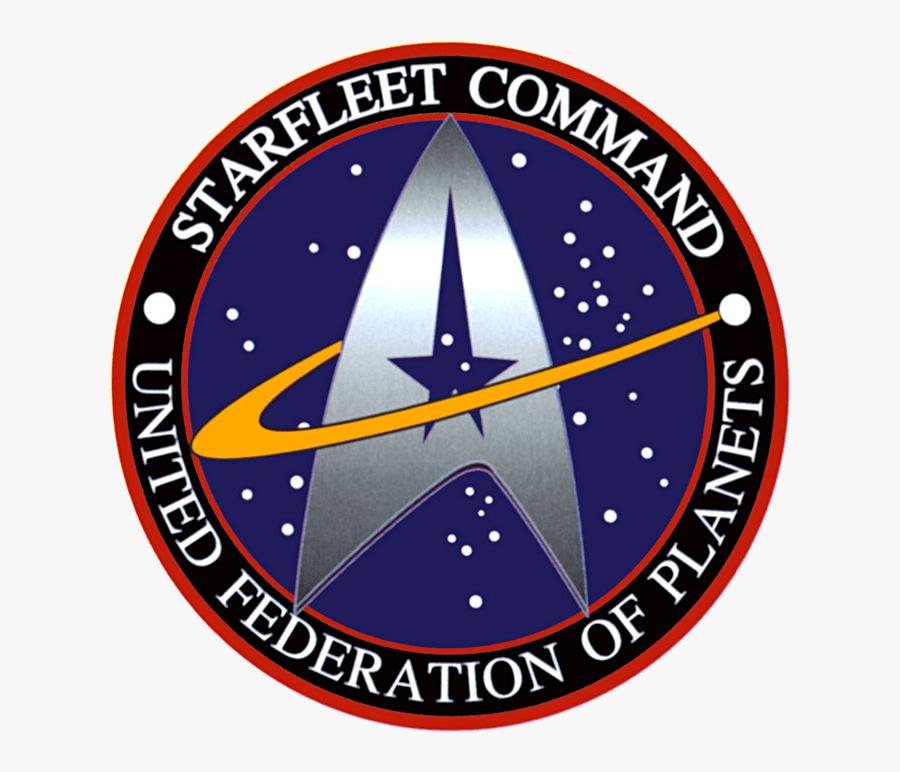 Starfleet Command Badge - Star Trek Federation, Transparent Clipart