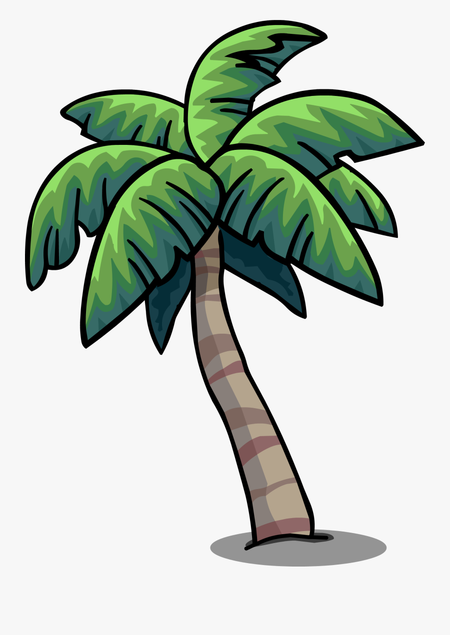 Tropical Palm Sprite - Palm Tree Png Cartoon, Transparent Clipart