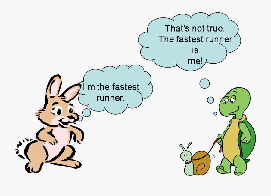 Teamwork Hare And Tortoise, Transparent Clipart