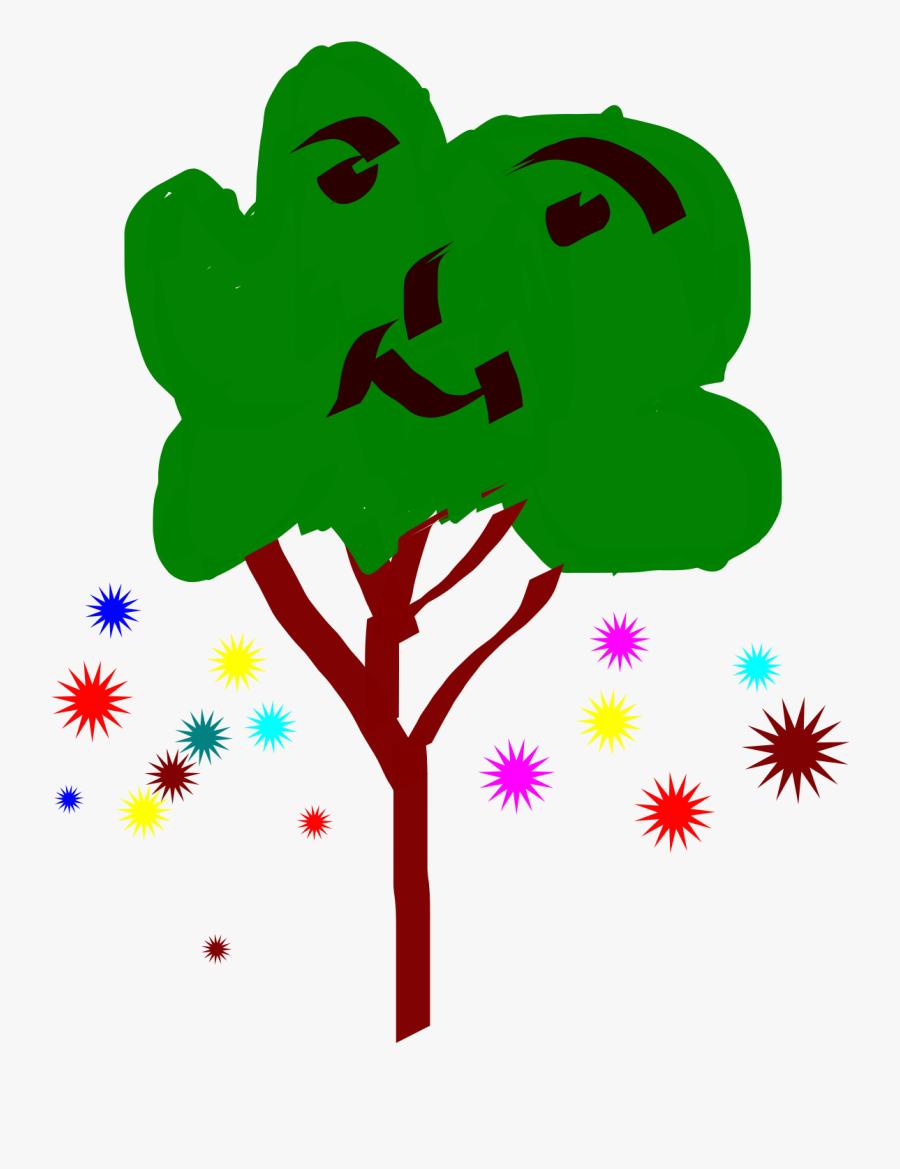 Flowers Tree Clip Arts - Illustration, Transparent Clipart