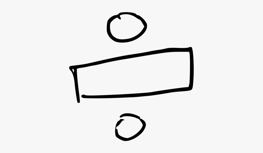 Line Art,angle,area - Division Sign Clip Art, Transparent Clipart