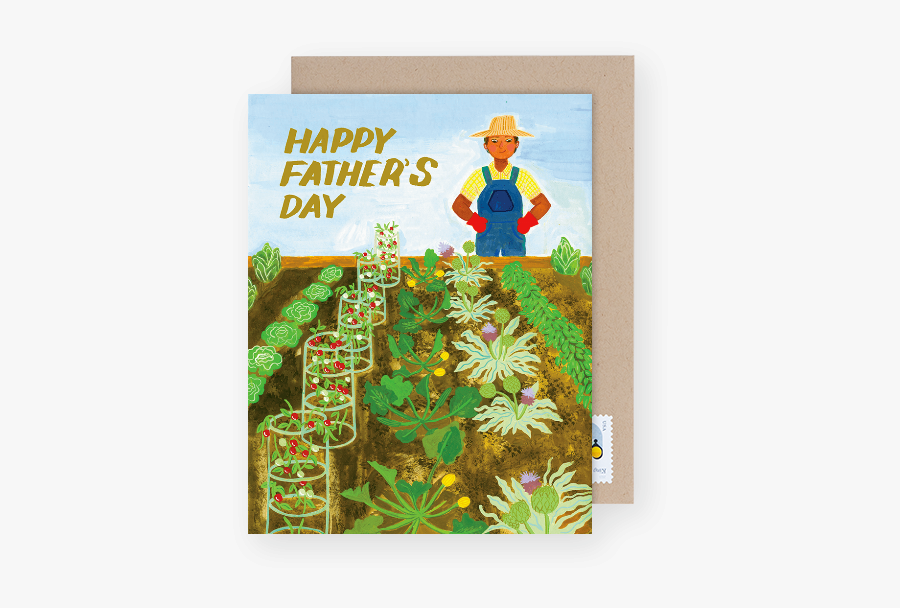 """Gardening Father""""s Day Card - Happy Fathers Day Garden, Transparent Clipart"""