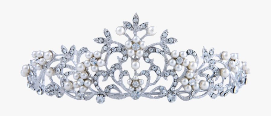 #crown #princess #pretty #princesscrown #tiara #silver - Tiara, Transparent Clipart