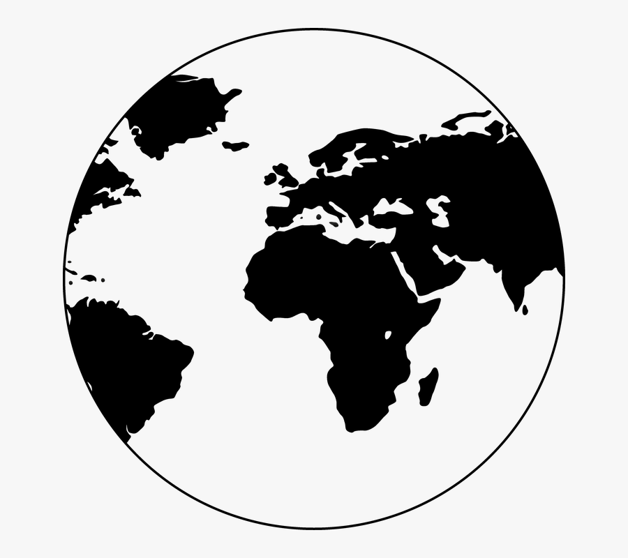 World Map Globe Vector Png, Transparent Clipart