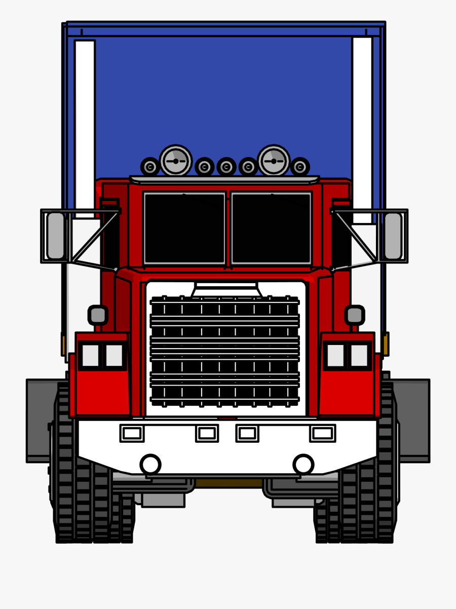 Front Of A Big Truck Clipart , Png Download - Truck Front View Png, Transparent Clipart