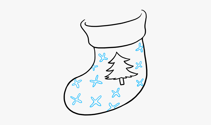 How To Draw Christmas Stocking - Draw Christmas Stocking, Transparent Clipart