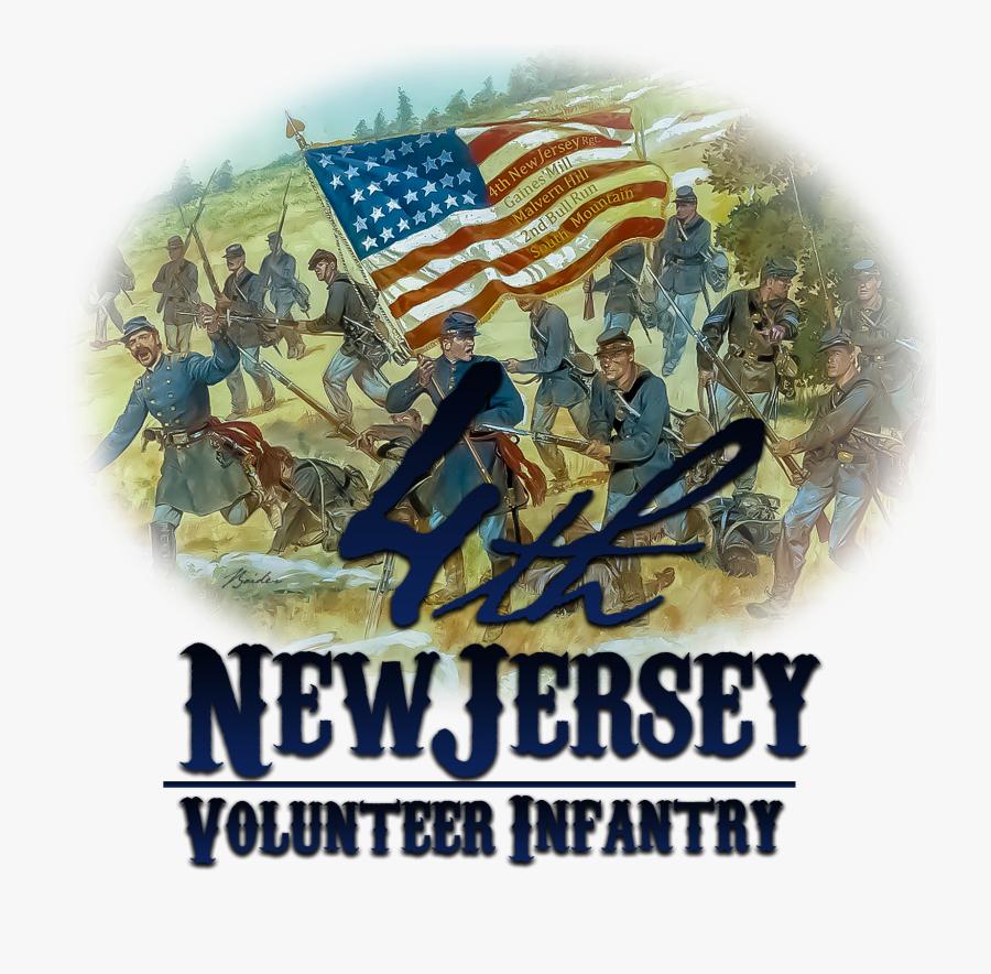 American Civil War , Png Download - Flags Of New Jersey Regiment Civil War, Transparent Clipart