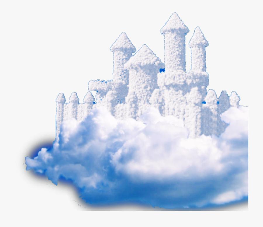 #castle #clouds #fantasy #cloud #creative #heaven - Castle Sky Png, Transparent Clipart