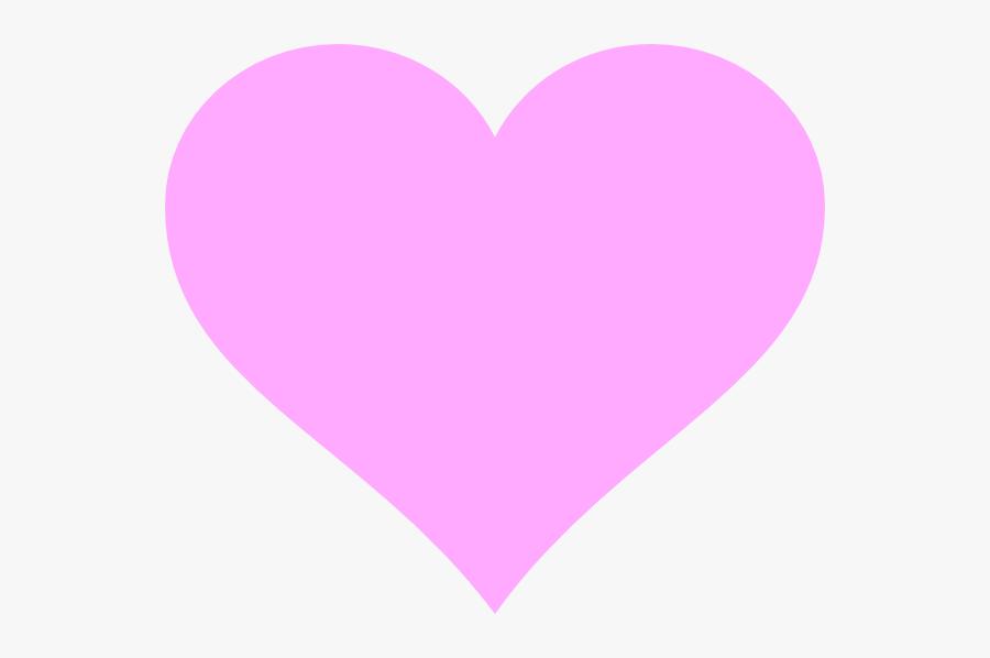 Hot Pink Love Heart, Transparent Clipart