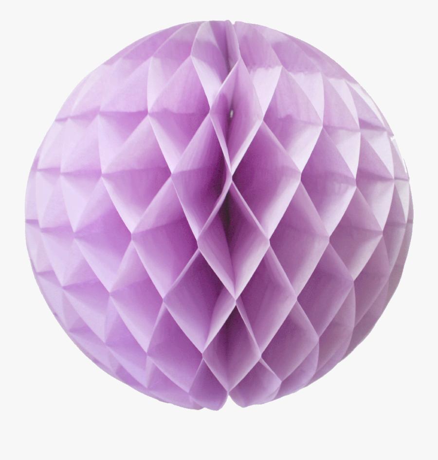16 Inch Lavender Honeycomb Lanterns - Ball Decor Paper Png, Transparent Clipart