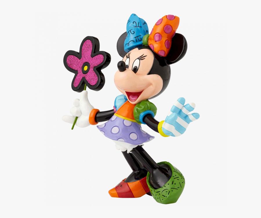 Transparent Minnie Mouse Swimsuit Clipart - Romero Britto Disney Mickey Mouse Mini Figurine Amazon, Transparent Clipart