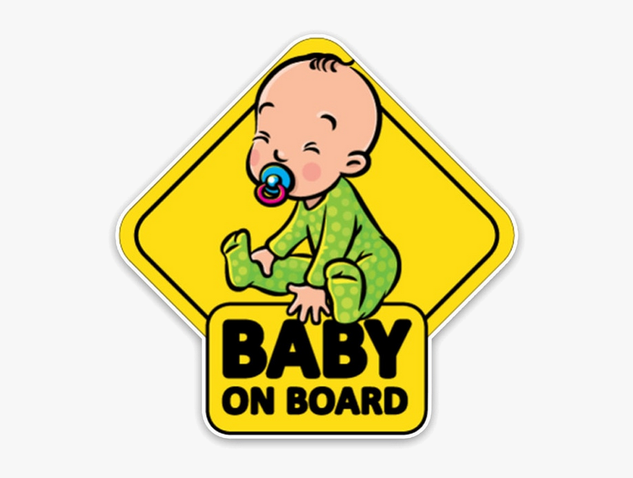 Baby On Board Png Clipart , Png Download - Baby On The Board, Transparent Clipart