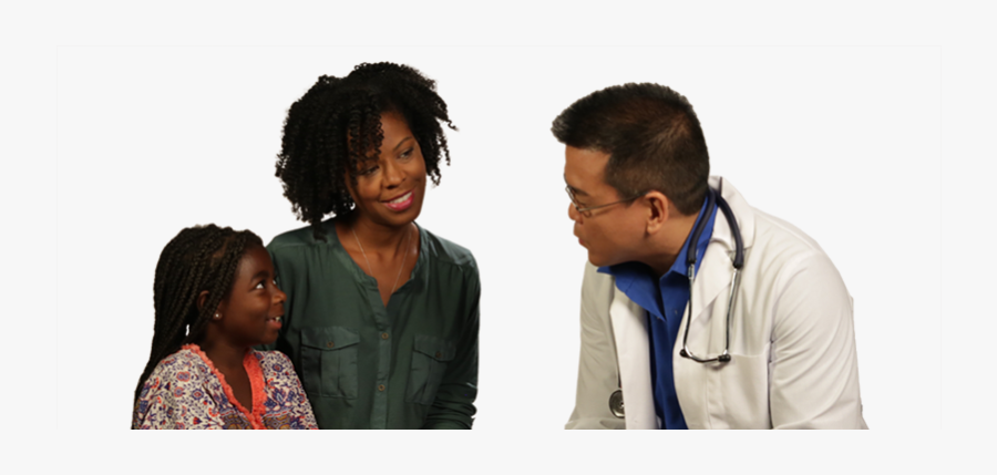 Image Of African American Asthma Patient With A Doctor - Sitting, Transparent Clipart