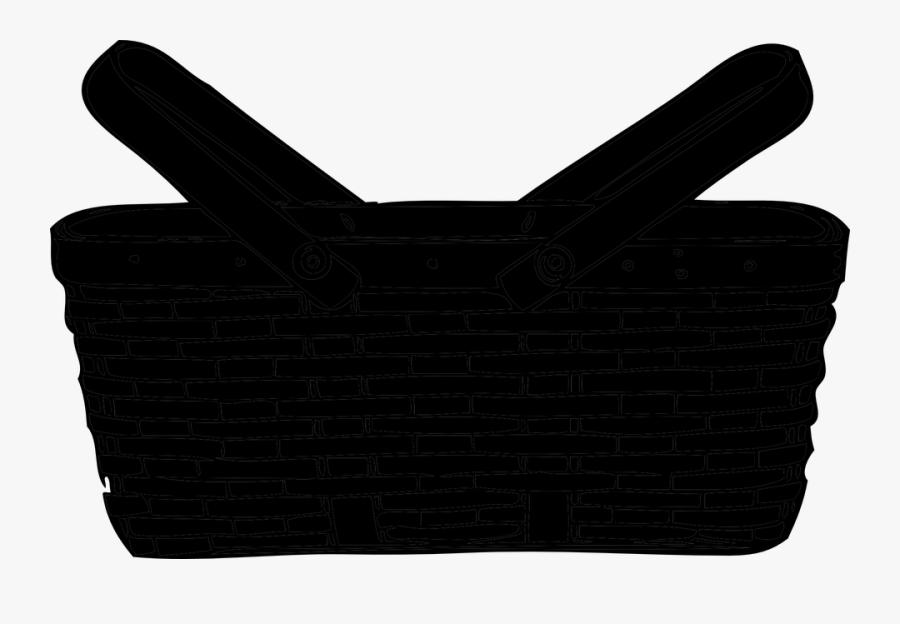 Basket Silhouette, Transparent Clipart