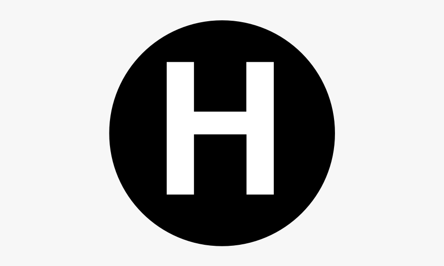 H Letter In Circle, Transparent Clipart