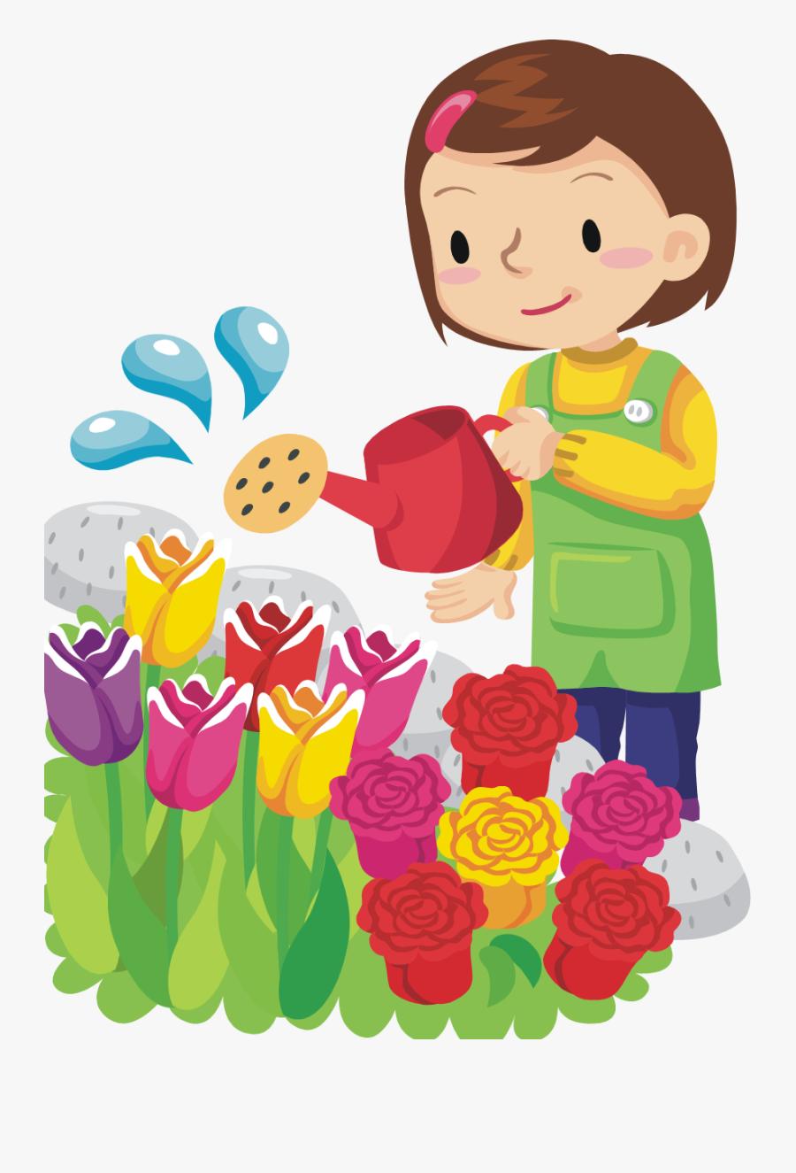 Planting Clipart Science Plant - Rose, Transparent Clipart