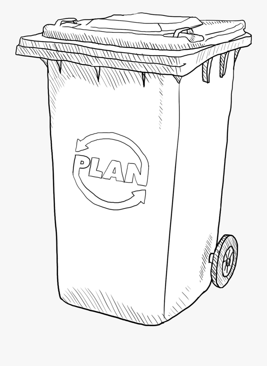 Transparent Garbage Can Clipart Sketch Free Transparent
