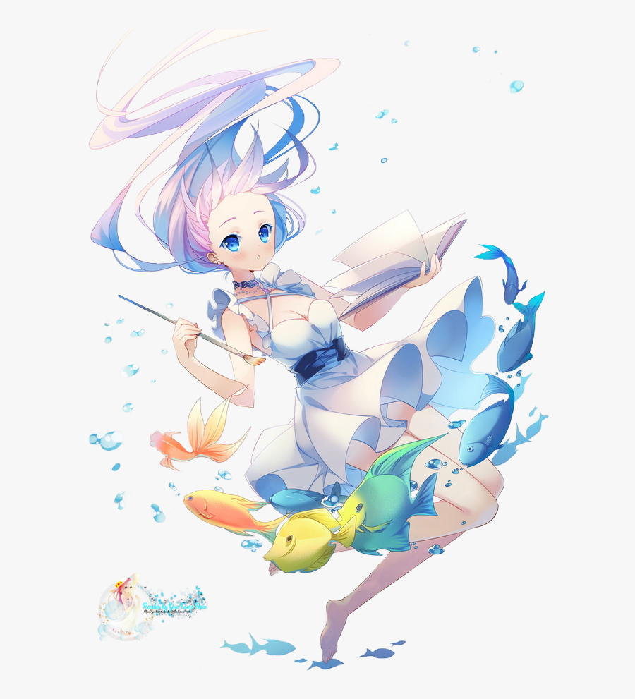 Falling Clipart Girl Falling - Transparent Anime Girl Falling