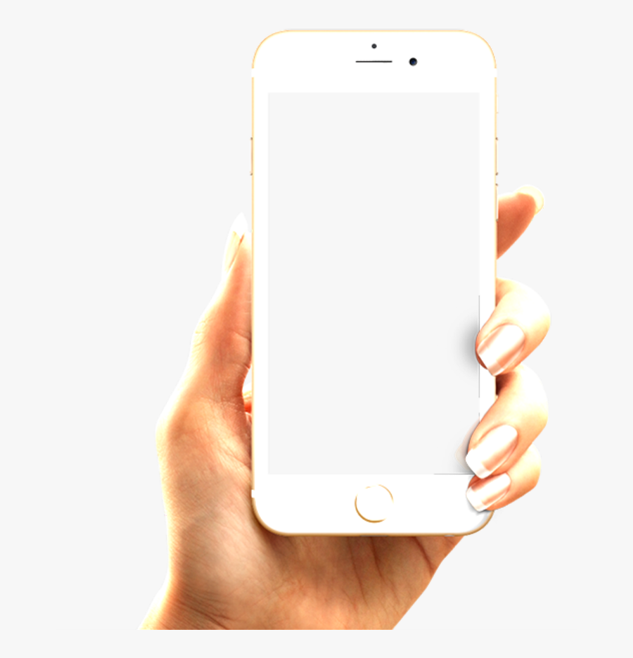 #iphone #phone #hand #holding #white - Hand Holding Phone Png, Transparent Clipart