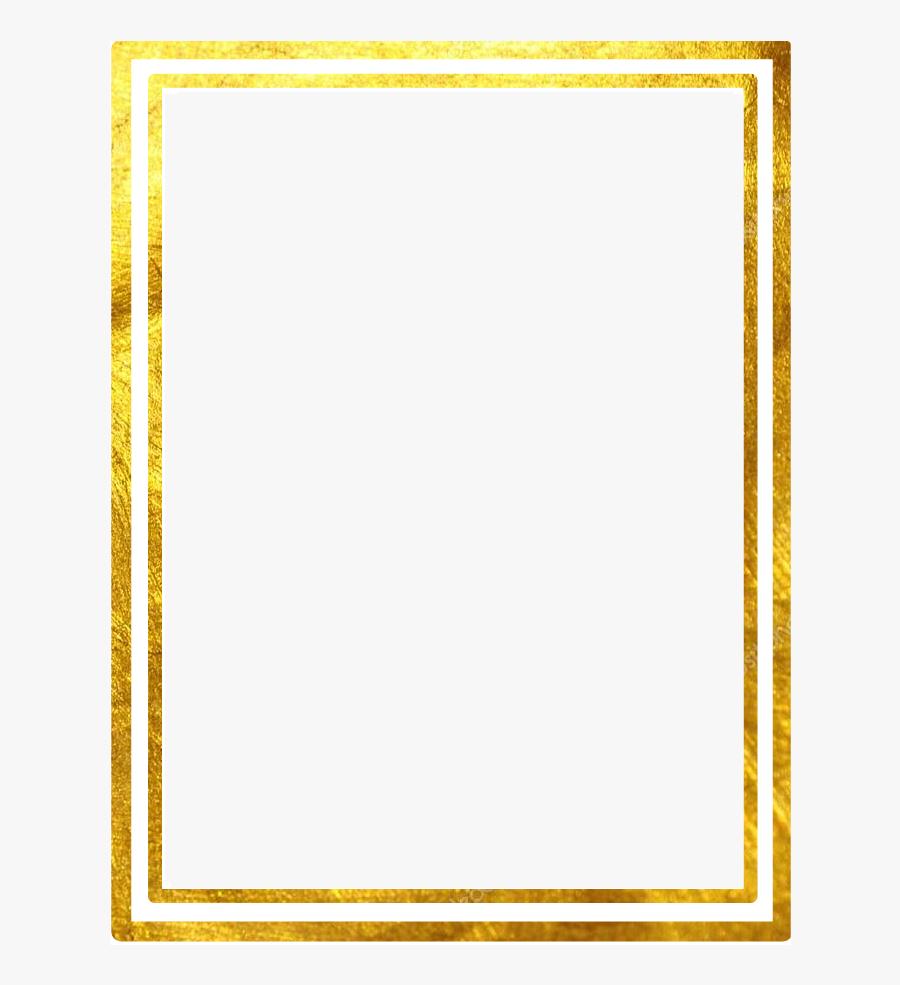Double Line Png - Gold Outline Border, Transparent Clipart