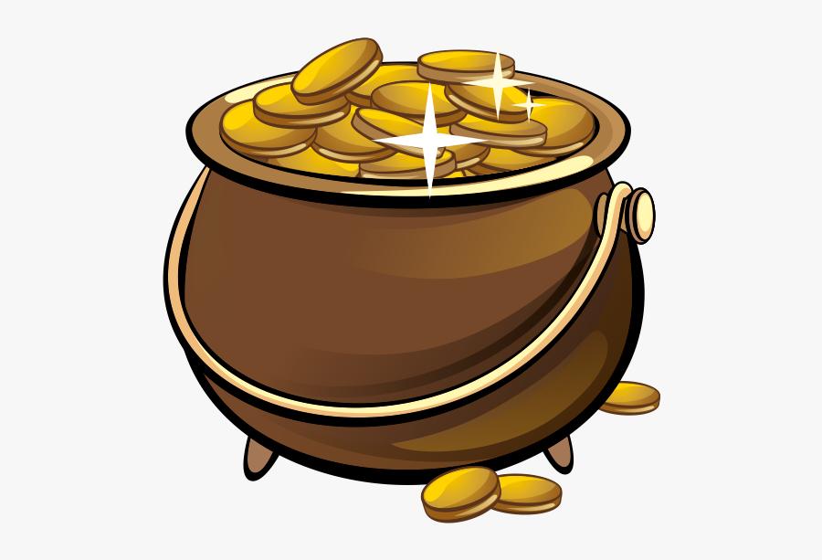 Leprechaun Pot Coin Gold Money Free Clipart Hd Clipart - Pot With Gold Coins Clipart, Transparent Clipart