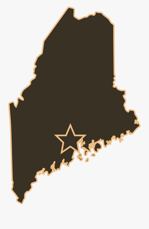 Dickel Floor Supply In Winterport, Maine - Maine Map Vector Png, Transparent Clipart