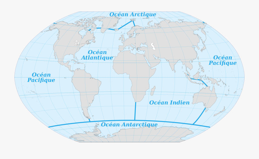 World Oceans Link Italia - Map Of The 6 Oceans, Transparent Clipart