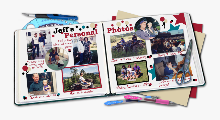 Clip Art Of My Life Picture - Scrap Books Scuba Diving, Transparent Clipart