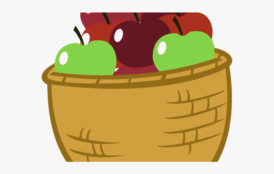 Apple Baskets Clipart 5 By Emily - Basket Of Apple Cartoon, Transparent Clipart