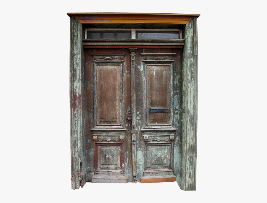 Door Oak Middle Ages - Old Wood Door Png, Transparent Clipart