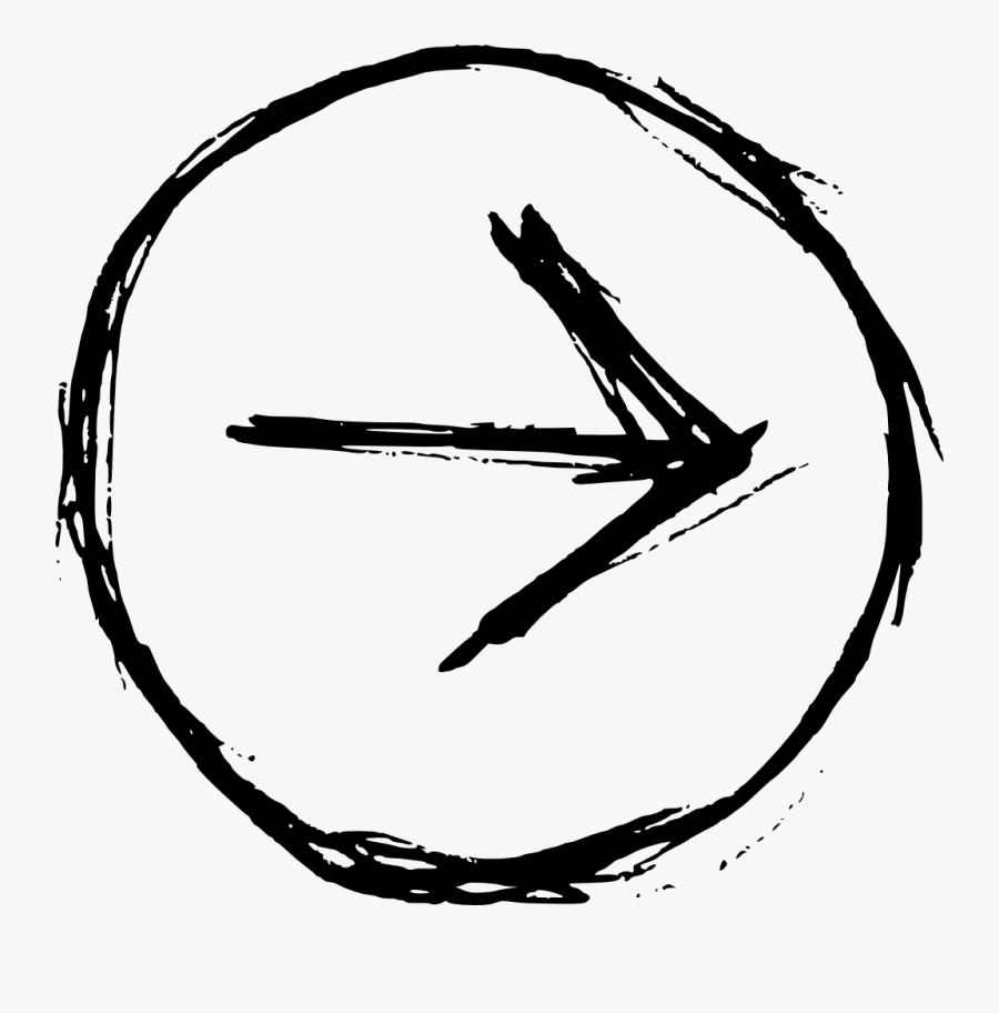 Drawn Frame Transparent Hand - Hand Drawn Arrow Symbol, Transparent Clipart