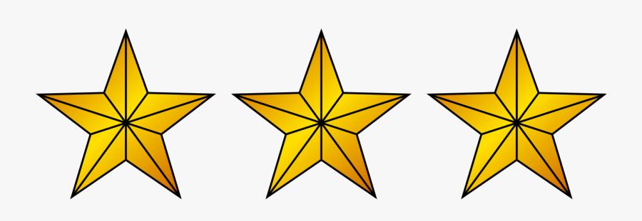 3 Gold Star Png, Transparent Clipart