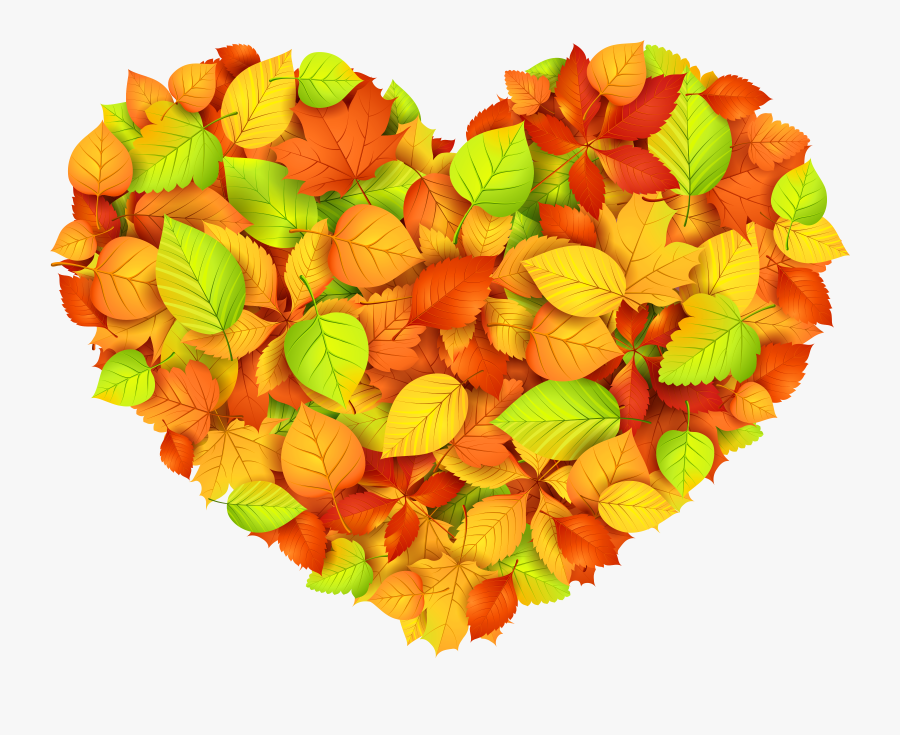 Collection Of Leaves - Autumn Leaf Heart Png, Transparent Clipart