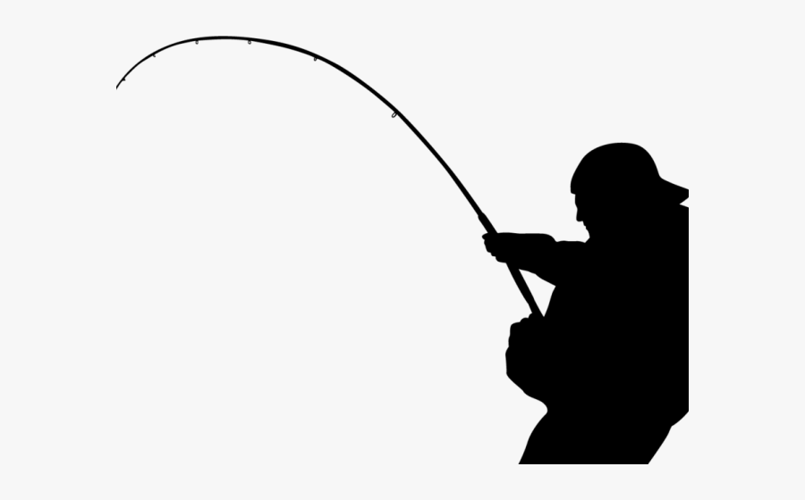Fishing Pole Clipart Outline - Fisherman Png, Transparent Clipart