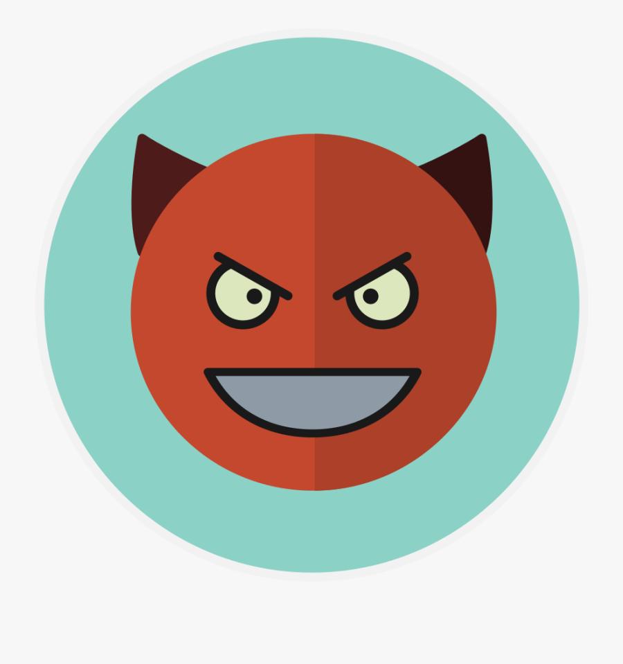 Devil Circle Cartoon, Transparent Clipart