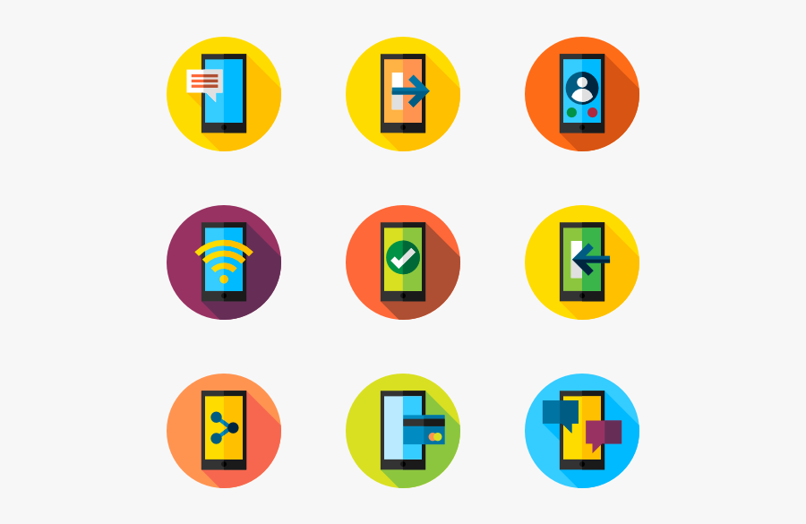 35 Mobile Phone Function Icon Packs - Functions Icons, Transparent Clipart