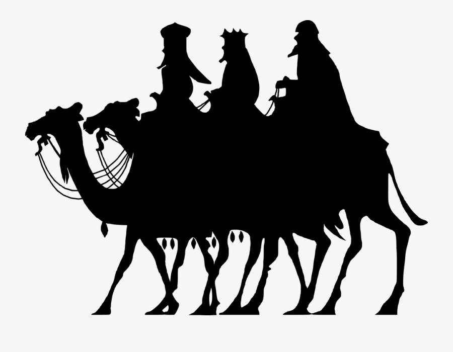 Three Wise Men, Silhouette, Christ, Birth, Christmas - Wise Men, Transparent Clipart