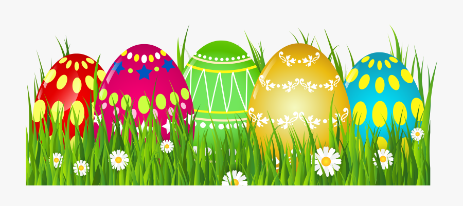 Clip Art Easter Grass Clipart - Easter Eggs Border Png, Transparent Clipart