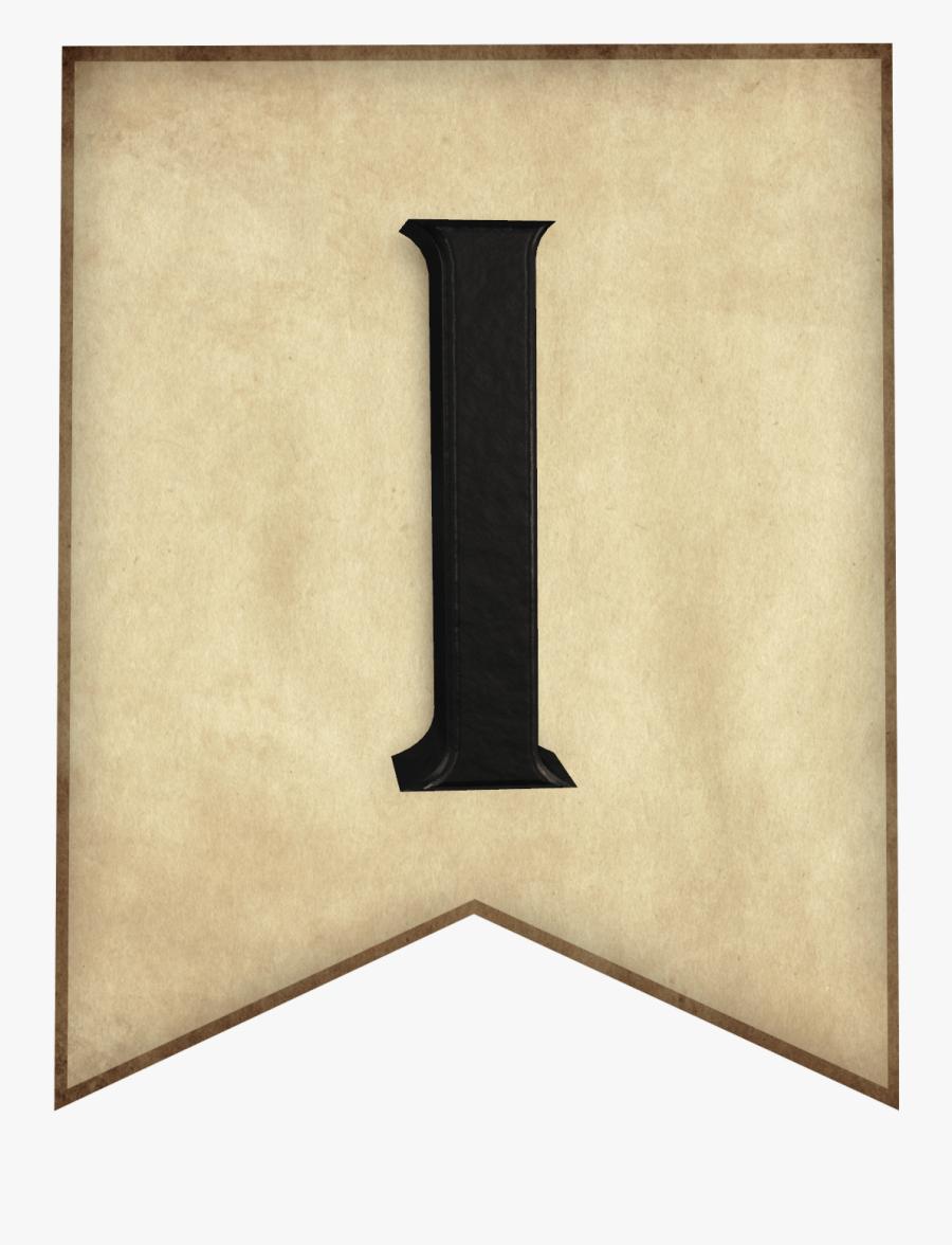 Harry Potter Banner Letter, Transparent Clipart