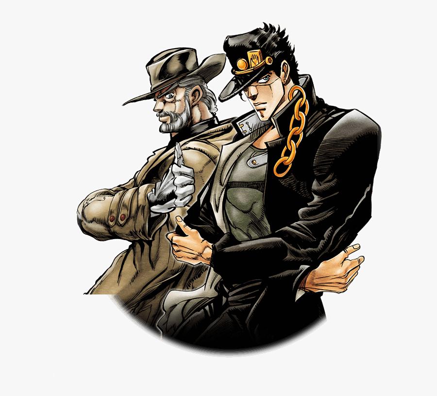 Transparent Jonathan Joestar Png - Old Joseph And Jotaro, Transparent Clipart