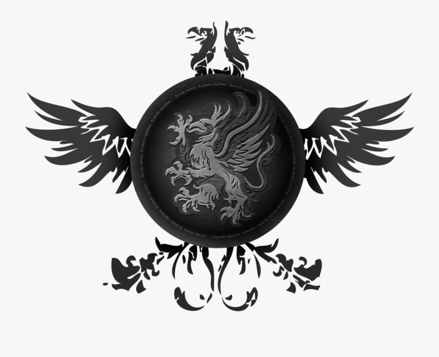 Origins Dragon Game Games Video Clipart - Grey Warden Symbol Transparent, Transparent Clipart