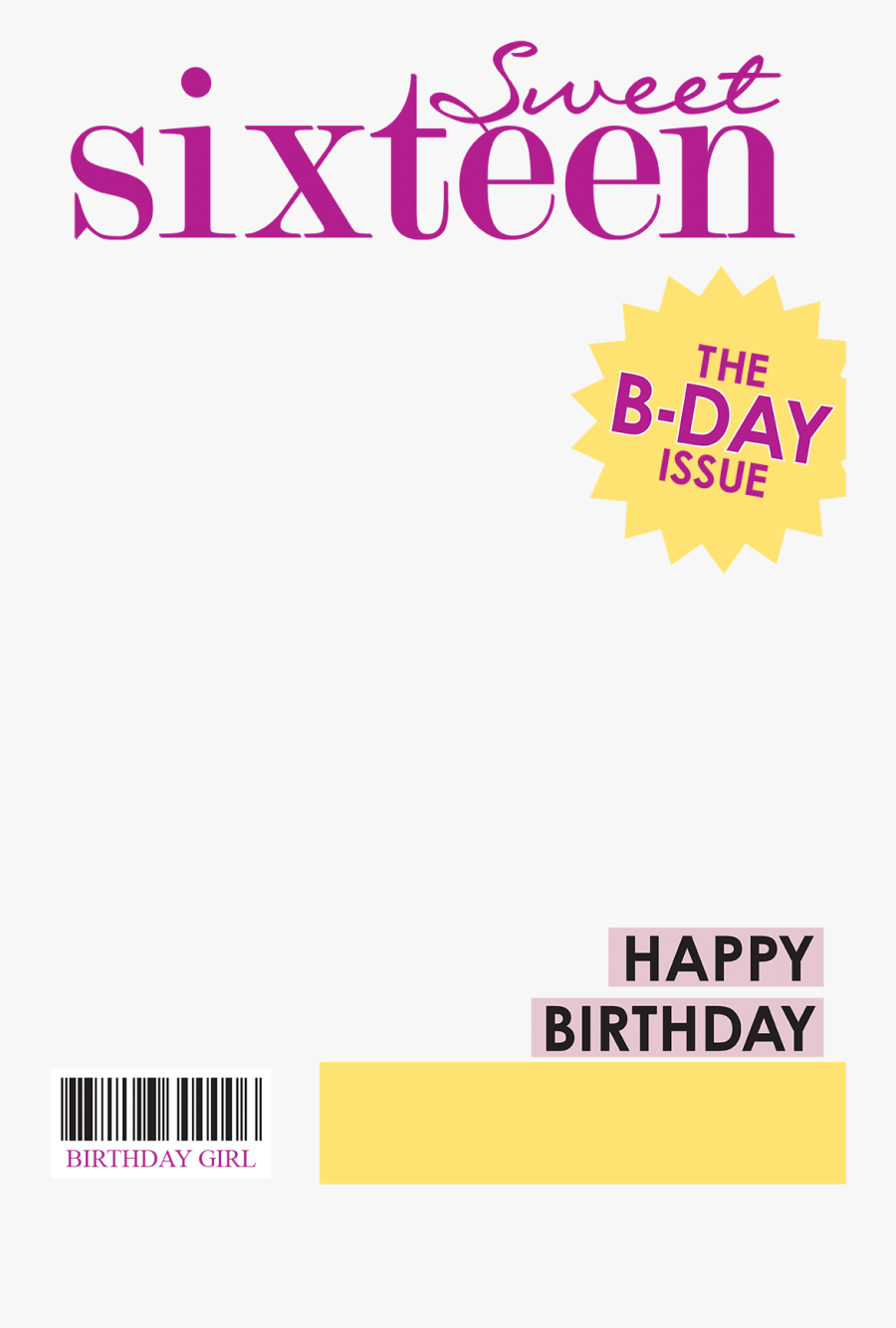 Transparent Pioneer Girl Clipart - Magazine Cover Sweet 16, Transparent Clipart