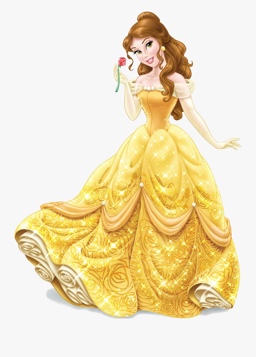 And Beauty Ariel Belle Cinderella Jasmine Beast Clipart - Belle Disney Princess, Transparent Clipart