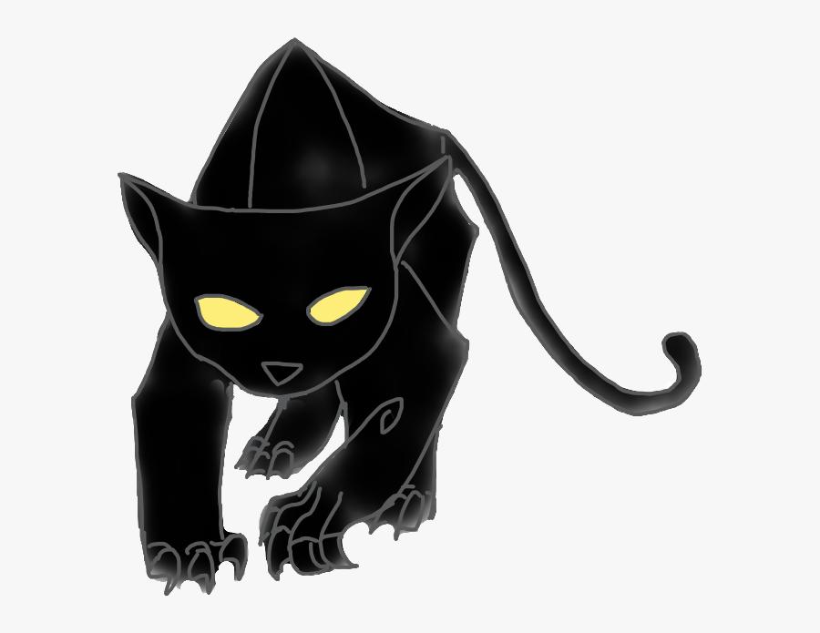#jaguar #black #panther #leopard #secret #of #kells - Black Cat, Transparent Clipart