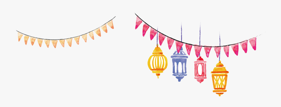 Hand Painted Watercolor Lantern Banner 64422172 Transprent - Islamic Banner Background Pink, Transparent Clipart